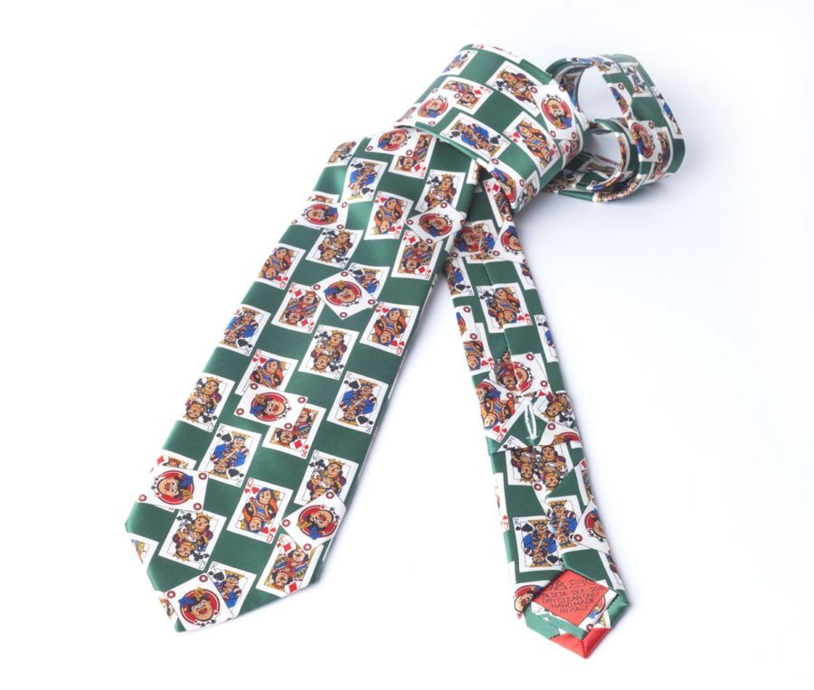 CARDS GREEN TIE
