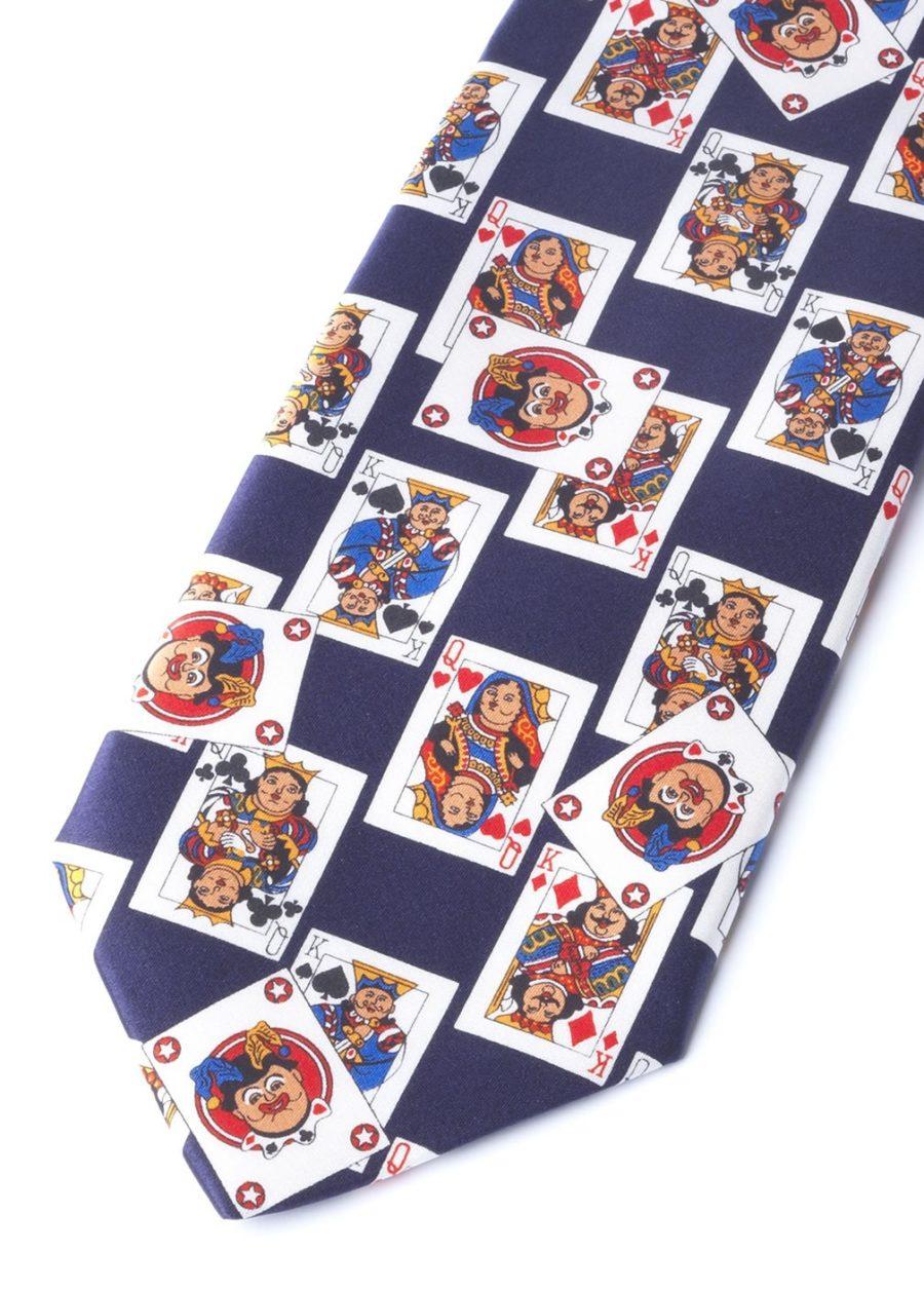 CARDS BLUE NAVY TIE
