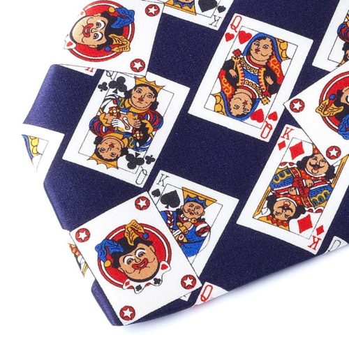CARDS BLUE NAVY TIE