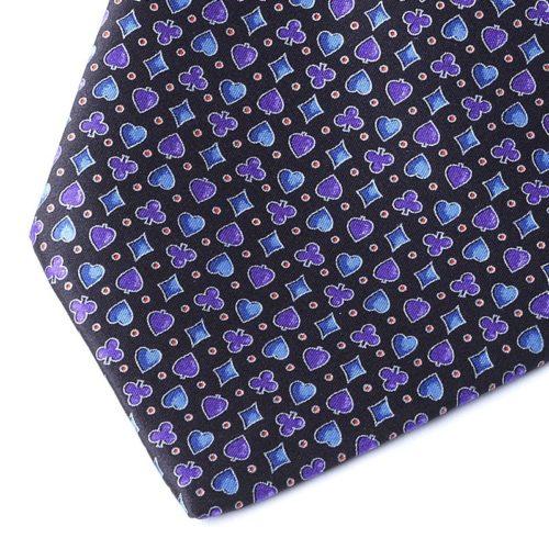 SUIT BLACK&BLUE TIE