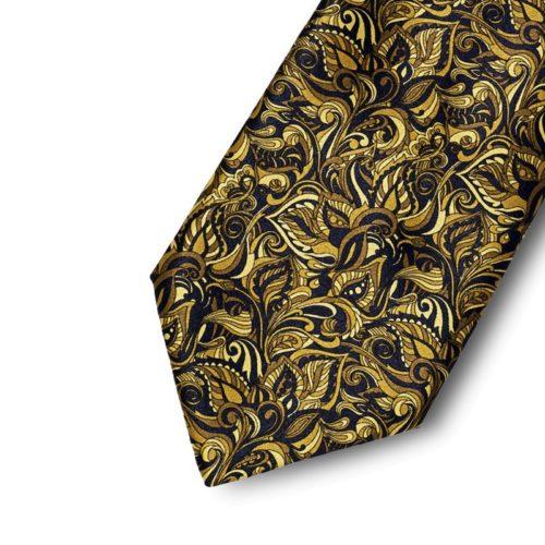 Floreal pattern tie