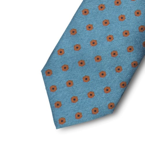 Silk jacquard pattern tie with a geometrical design