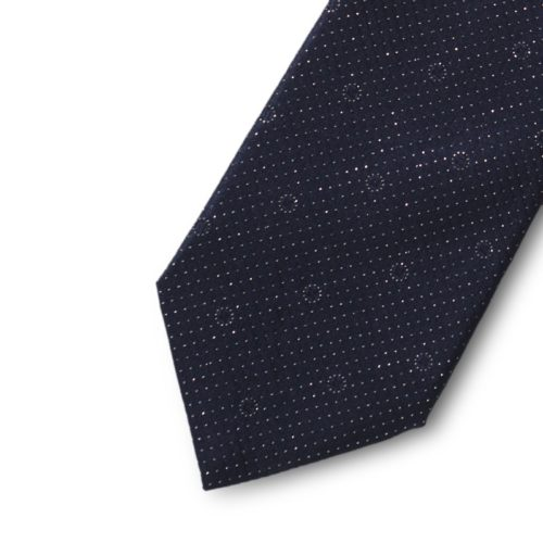 Satin silk tie with lurex