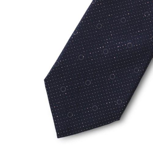 Satin silk tie with lurex