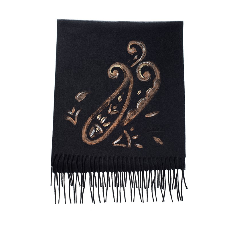 cashmere hand painted scarf