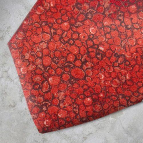 Cravatta fantasia rossa e nera SS16