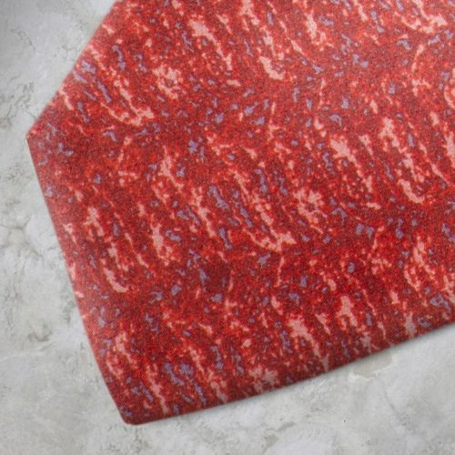 Cravatta fantasia rossa e azzurra SS16