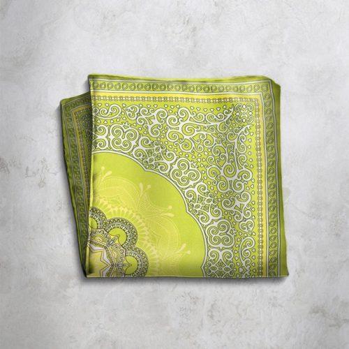 Pochette fantasia gialla e verde SS16