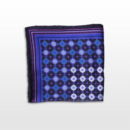 Pochette fantasia blu e viola Fall-Winter 16/17