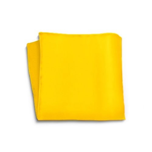 Tailored solid orange silk pocket square p-18004-3