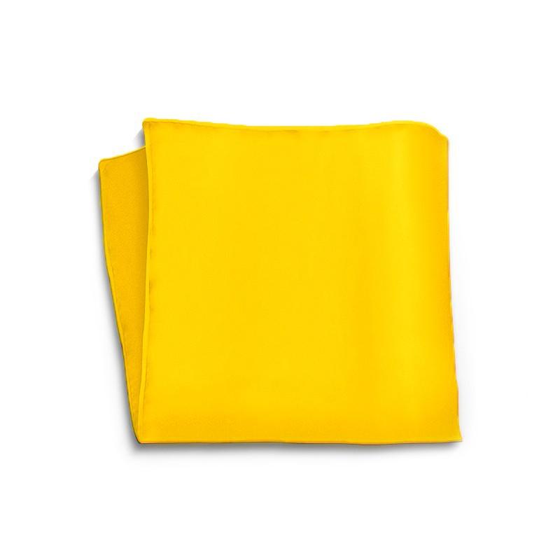 Tailored solid orange silk pocket square p-18004-3