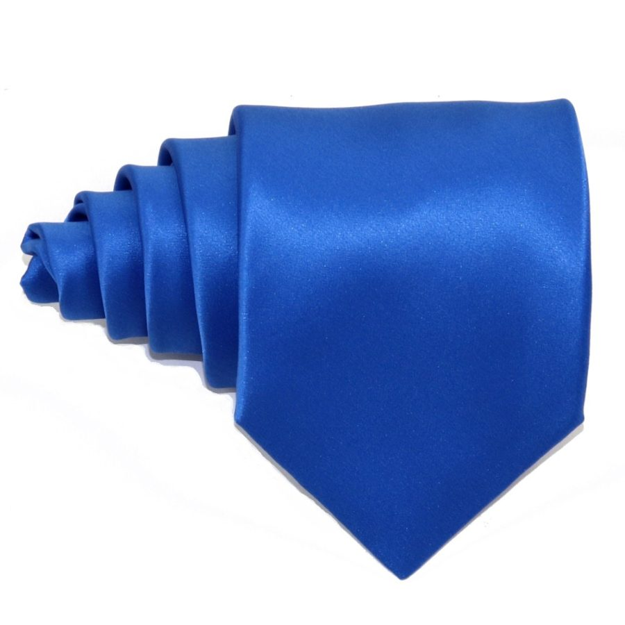 Tailored solid light blue silk tie 18006-5