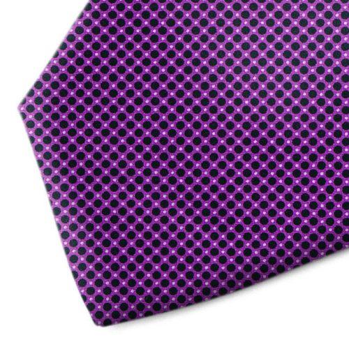 Violent and black polka dot tie