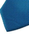 Blue and black polka dot silk tie