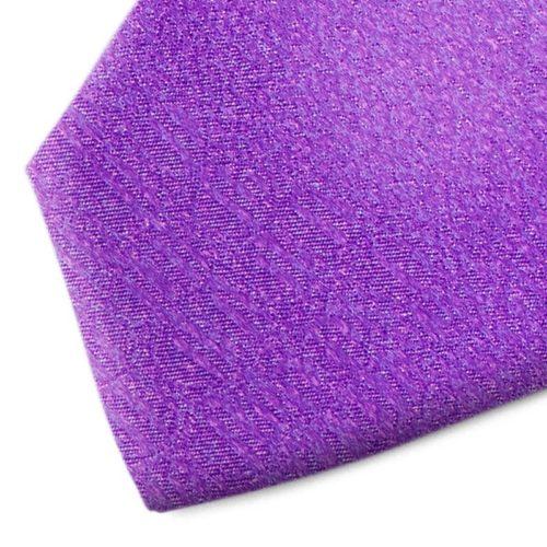 Violet patterned silk tie