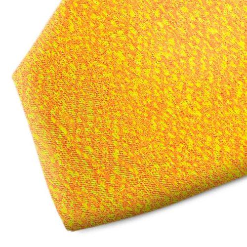 Yellow patternes silk tie