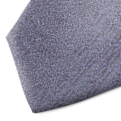 Grey patterned silk tie