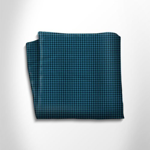 Green water and black silk pocket square