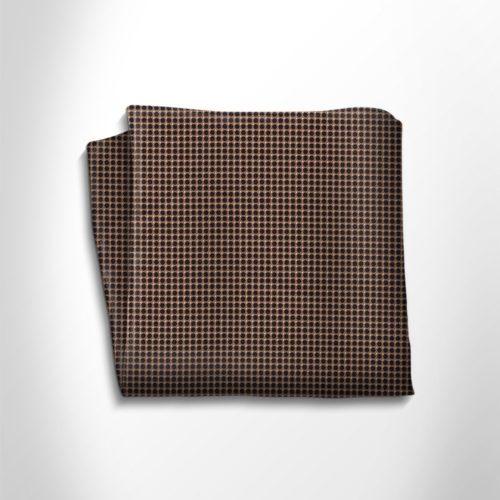 Brown and black silk pocket square
