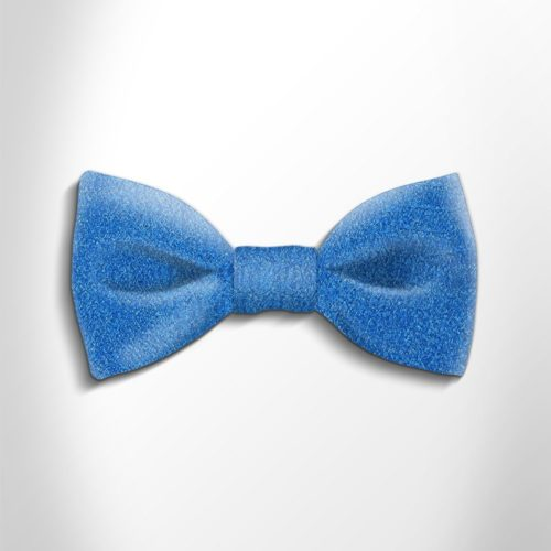 Turquoise patterned silk bow tie