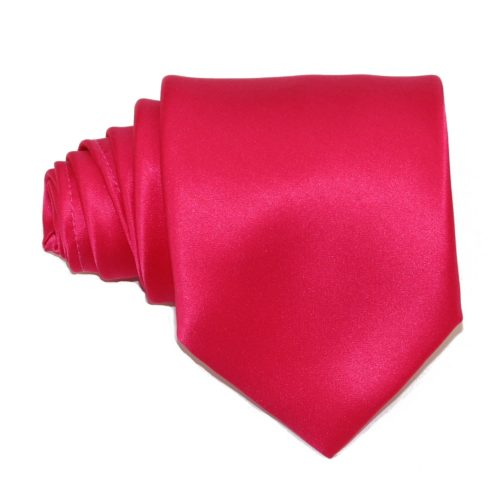 Tailored solid fuchsia silk tie 18005-5