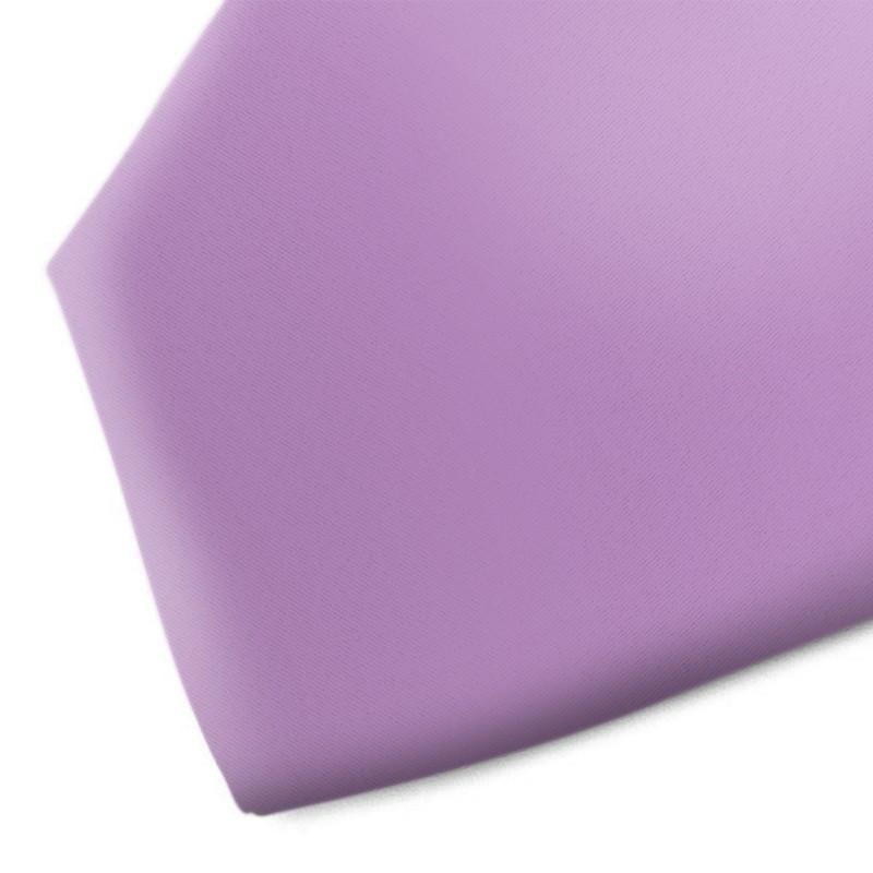 Solid lilac handmade silk necktie
