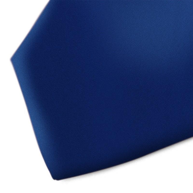Solid blue handmade silk necktie