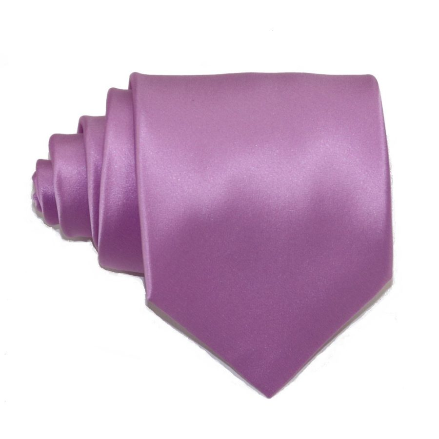 Tailored solid lilac silk tie 18005-11