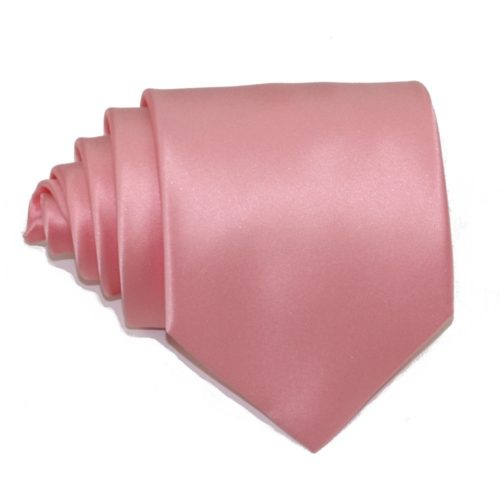 Tailored solid pink silk tie 18005-8