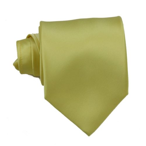 Tailored solid beige silk tie 18004-1