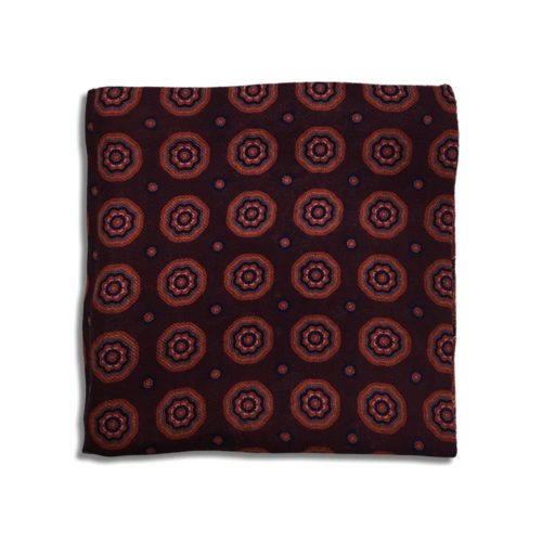 Bordeaux cashmere pocket square