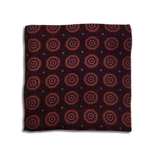 Bordeaux cashmere pocket square