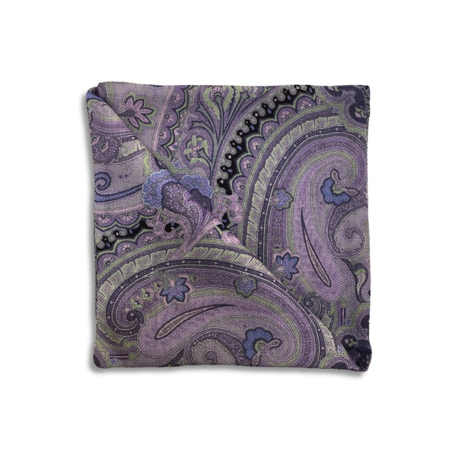 Cashmere double face lilac pocket square