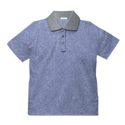 Short sleeve men's cotton polo shirt light grey 418073-02