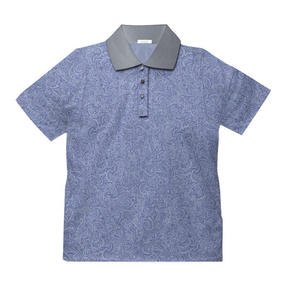 Short sleeve men's cotton polo shirt light grey 418073-02