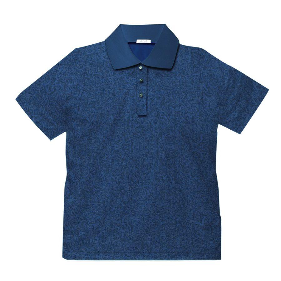 Short sleeve men's cotton polo shirt blue 418073-05