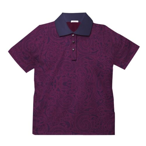 Short sleeve men's cotton polo shirt purple 418076-04