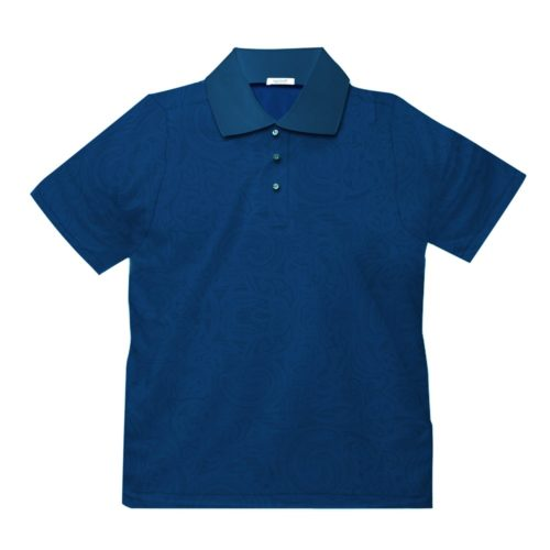 Short sleeve men's cotton polo shirt blue 418076-05