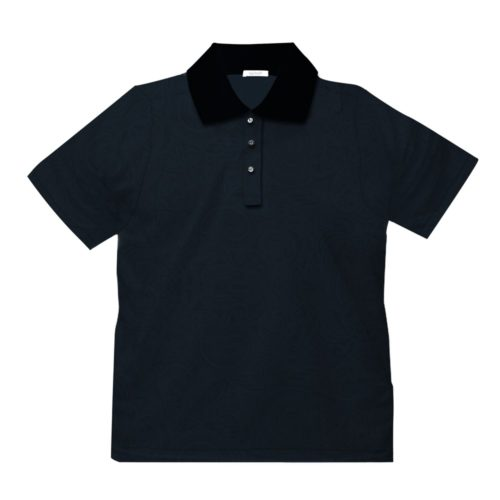 Short sleeve men's cotton polo shirt black 418076-07