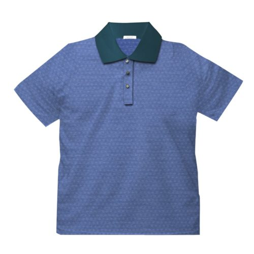 Short sleeve men's cotton polo shirt light blue 418078-02