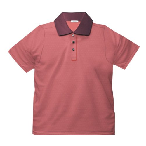 Short sleeve men's cotton polo shirt pink 418078-03