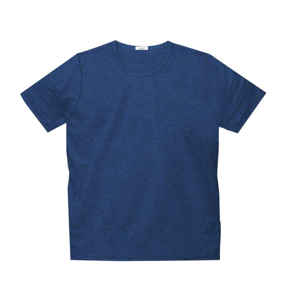 Short sleeve men's cotton t-shirt blue 418073-05