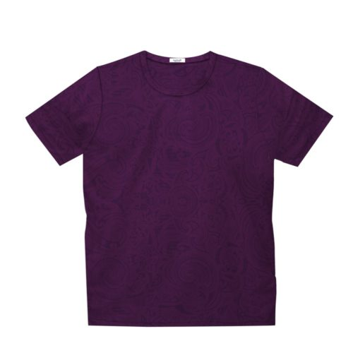 Short sleeve men's cotton t-shirt purple 418076-04