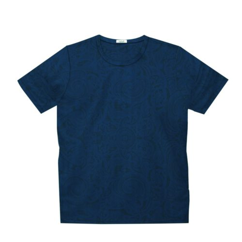 Short sleeve men's cotton t-shirt blue 418076-05