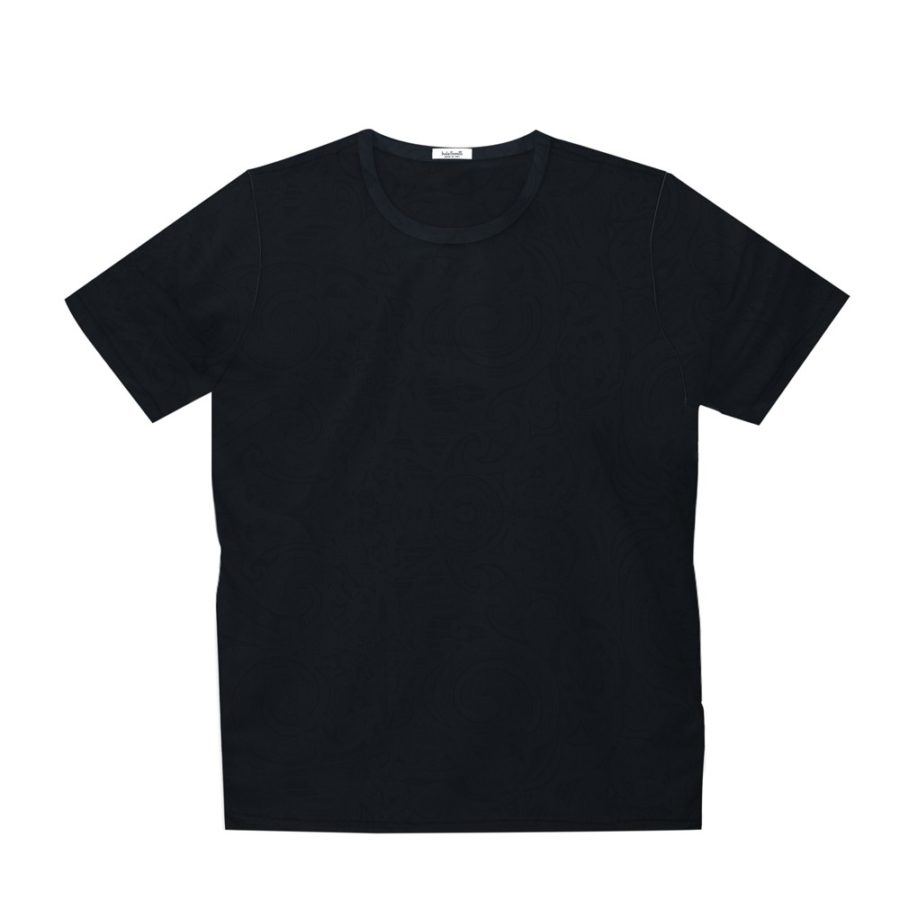 Short sleeve men's cotton t-shirt black 418076-07