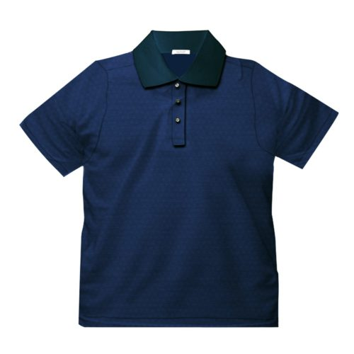Short sleeve men's cotton polo shirt navy blue 418078-05