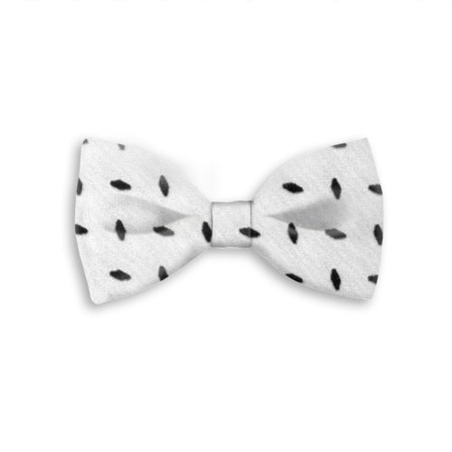 Tailored handmade bow-tie with velvet effect application 419408-08