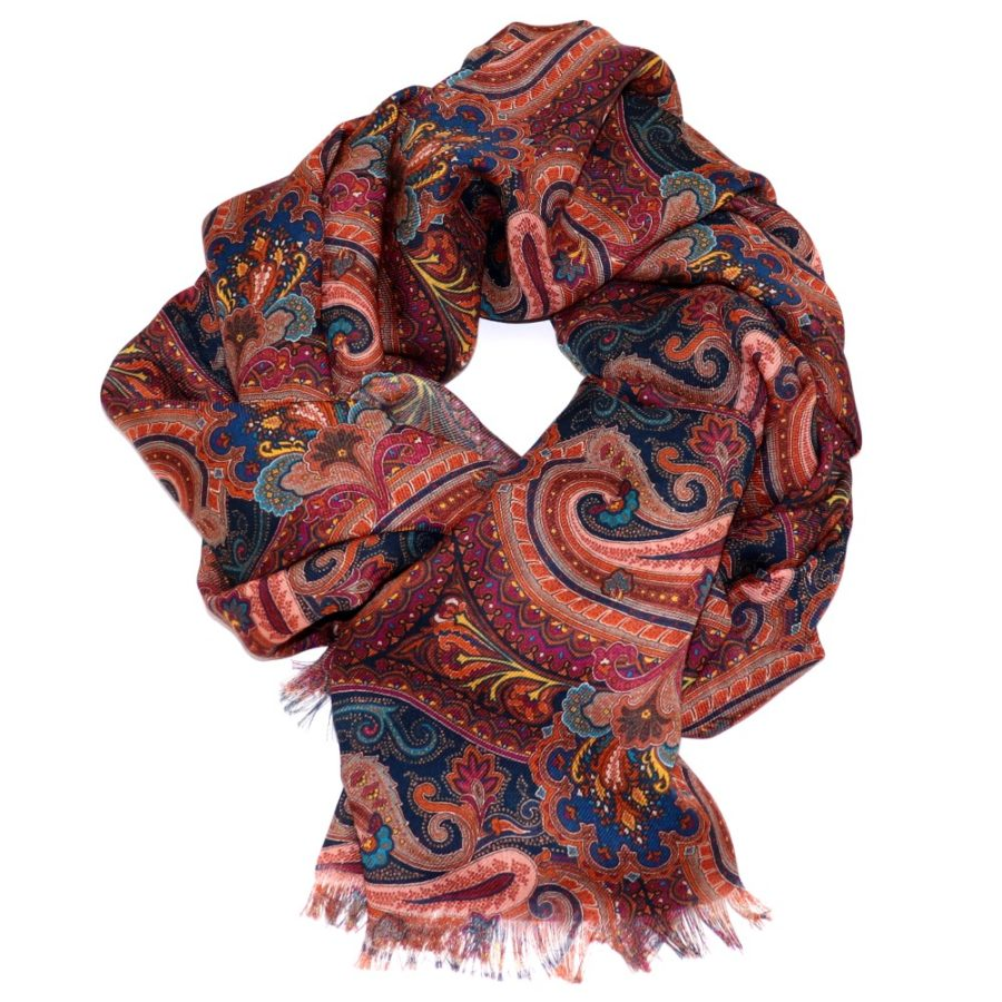Sartorial and fringed scarf, 100% cashmere, made in Italy Size - 70 cm x 200 cm