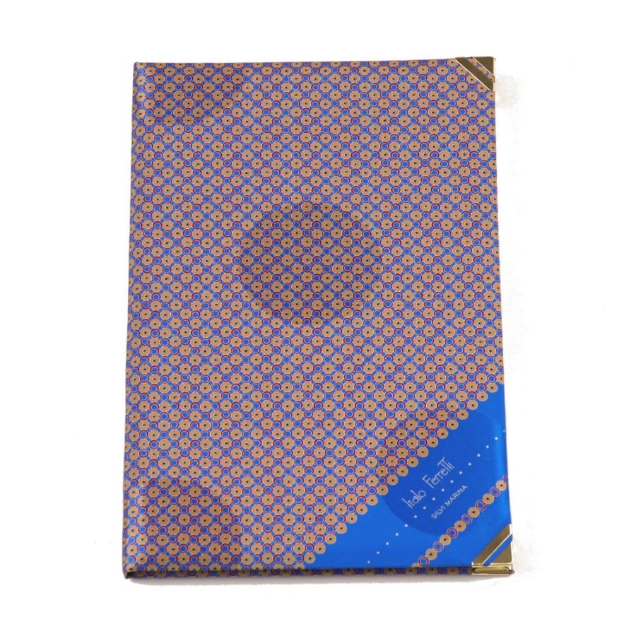 Silk Whish List Diary - Blue and red polka dots pattern