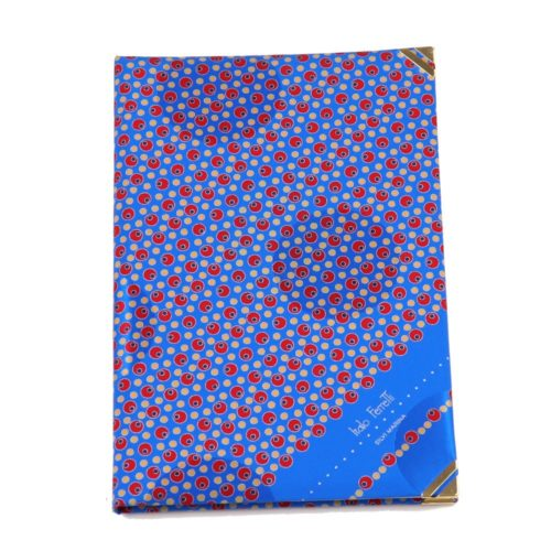 Silk Whish List Diary - Red and Blue polka dots pattern